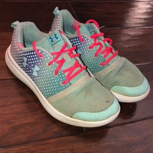 Girls Under Armour athletic shoes